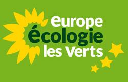 logo de Europe Écologie les Verts sur fond vert